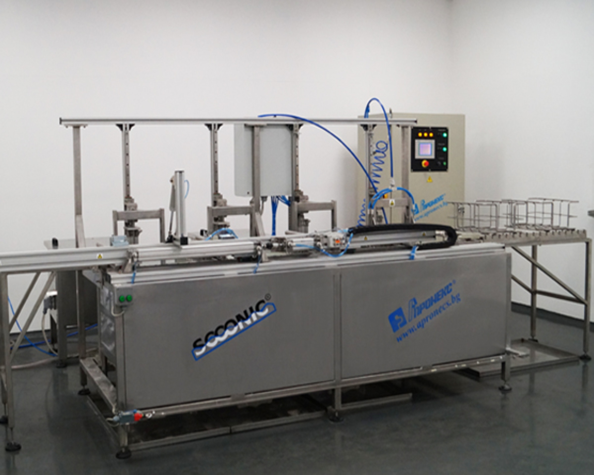 Ultrasonic cleaning line